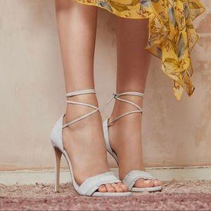 Stuart weitzman nudewrap sandals heels with ties 7